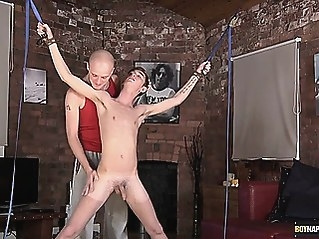 Kieron Knight sucks the hot cum load from the balls to bdsm (gay) blowjob (gay) gays (gay)