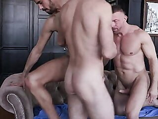 Daddy's Holiday Surprise Sc1 bareback big cock blowjob