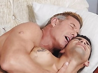 Stepdad punishes rude boy bareback (gay) blowjob (gay) bukkake (gay)