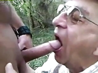85y old sucking outdoor blowjob (gay) daddy (gay) old+young (gay)