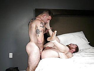 Jack and Randy flip fuck bareback bear big cock