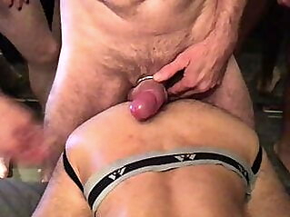 5 breeders, 1 cumdump. Cumdump party amateur bareback big cock